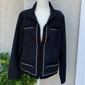 Zenergy by Chico's Black Jacket w Gold Trim Size 1